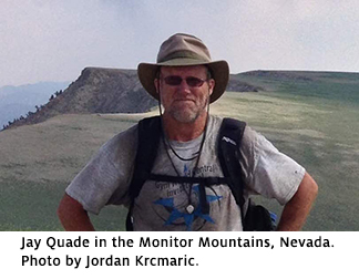 Photo of Jay Quade in front of mountains in Nevada