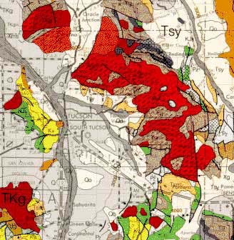 Geologic map of the Tucson area