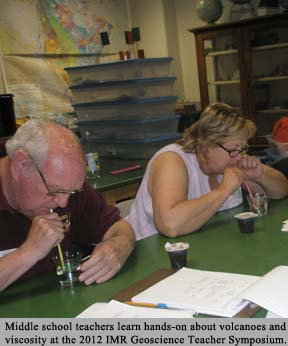 Teachers drink through straws a part of a lesson on viscosity
