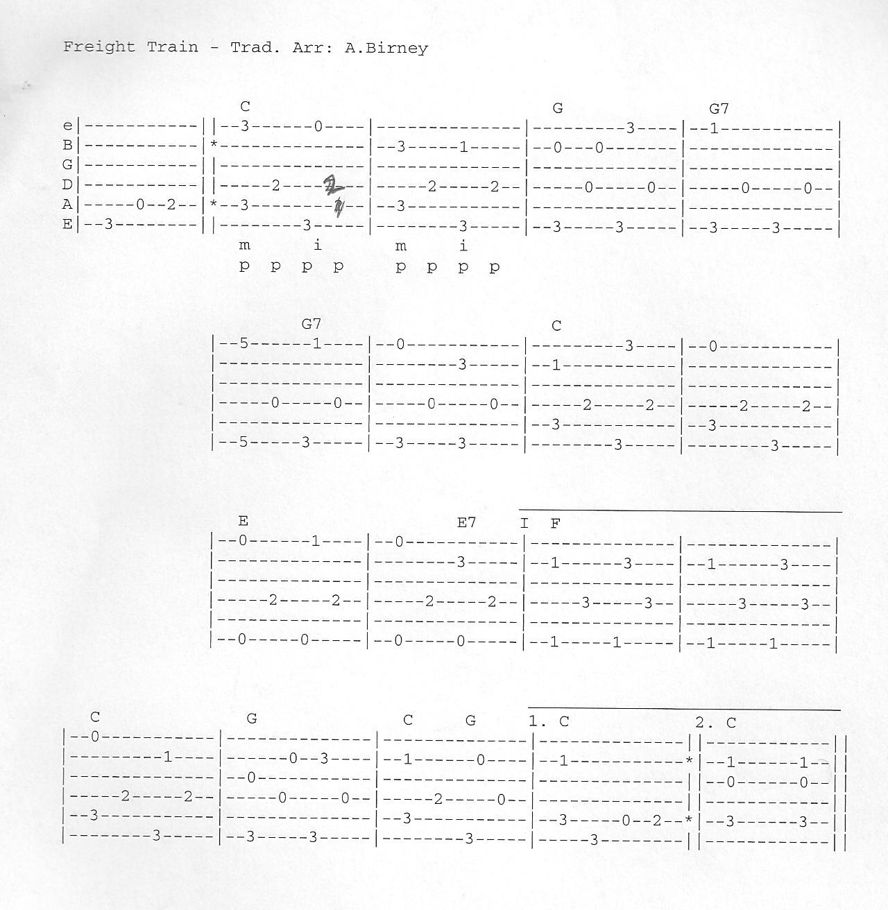 Kp guitar lesson resources freight train tab hexwebz Choice Image
